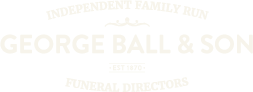 Stockport funeral directors George Ball & Son Logo white